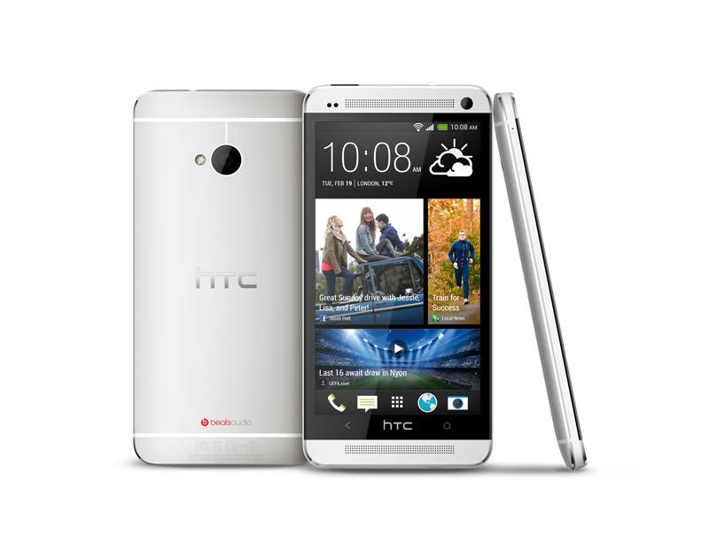 Front- und Rückseite HTC One weiß