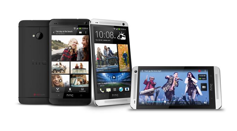 HTC One schwarz und weiß