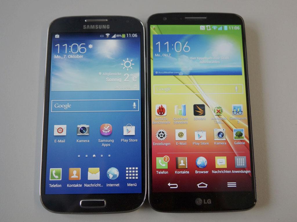 LG G2 vs SGS4